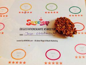 Keks, Bewertungskarte vom SweetUp 2015.